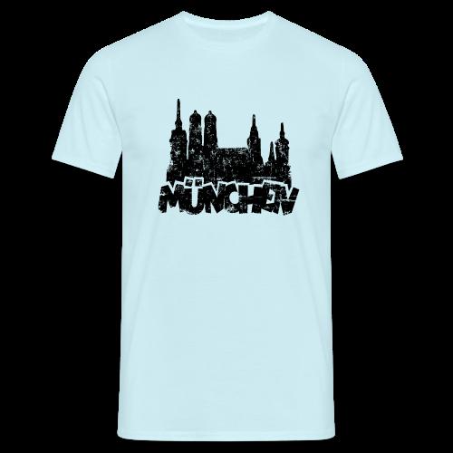 München Skyline Vintage T-Shirt - Männer T-Shirt