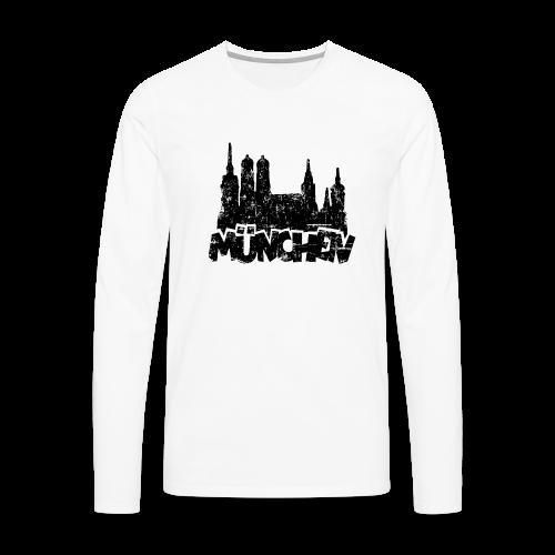 München Skyline Vintage Langarmshirt - Männer Premium Langarmshirt
