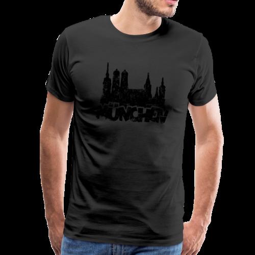 München Skyline Vintage S-5XL T-Shirt - Männer Premium T-Shirt
