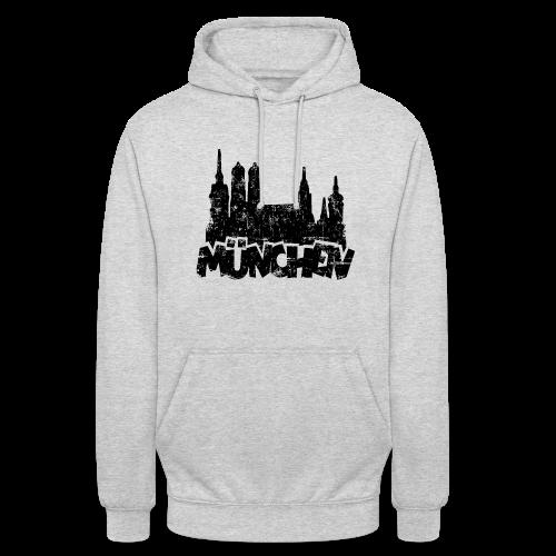 München Skyline Vintage Hoodie - Unisex Hoodie