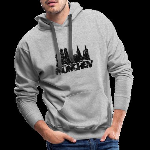 München Skyline Vintage Hoodie - Männer Premium Hoodie