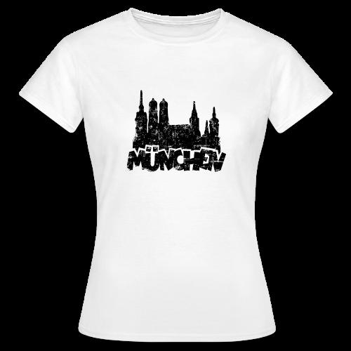 München Skyline Vintage T-Shirt - Frauen T-Shirt