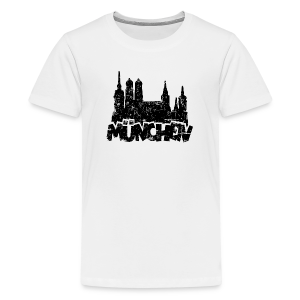 München Skyline Vintage Teenager T-Shirt - Teenager Premium T-Shirt