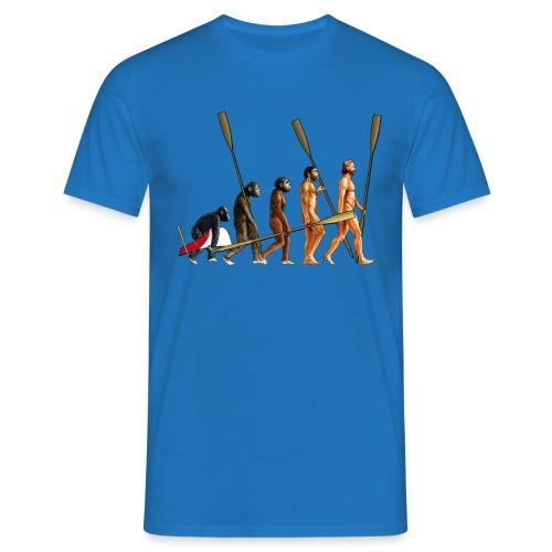 Evolution of The Rower - Men's T-Shirt