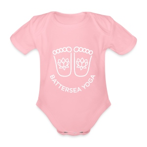 Smiley Feet Baby Grow - Organic Short-sleeved Baby Bodysuit