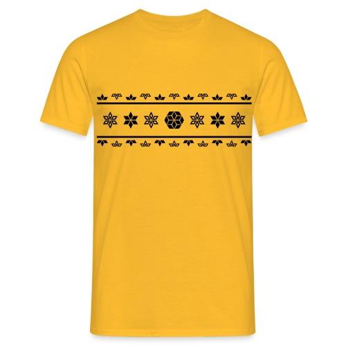 Norweger Muster Stern - Männer T-Shirt