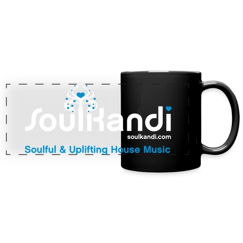 Soul Kandi Panoramic Print Mug White & Blue - Full Color Panoramic Mug