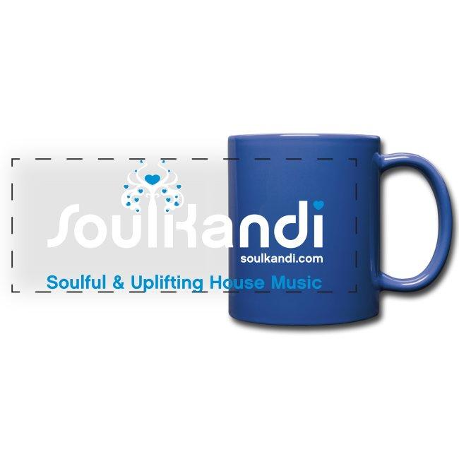 Soul Kandi Panoramic Print Mug White & Blue