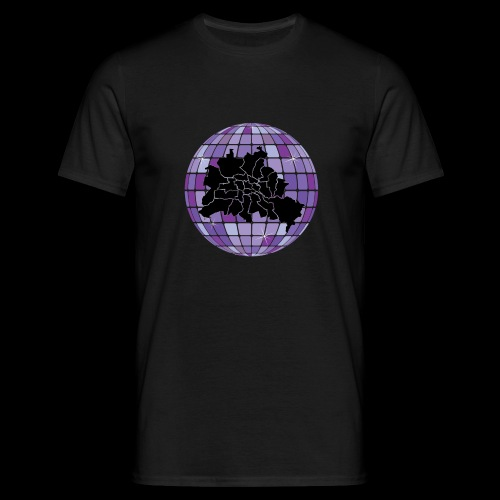 Berlin Map in Disco Ball lilac - Männer T-Shirt