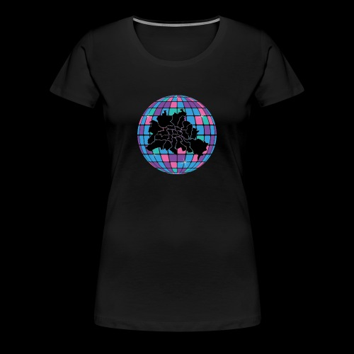 Berlin Map in Disco Ball multicoloured - Frauen Premium T-Shirt
