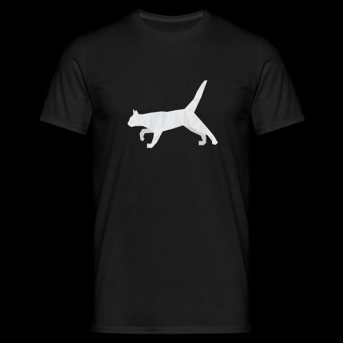 Polygonal Cat - Männer T-Shirt
