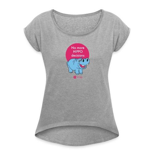HIPPO, Women's - T-shirt med upprullade ärmar dam
