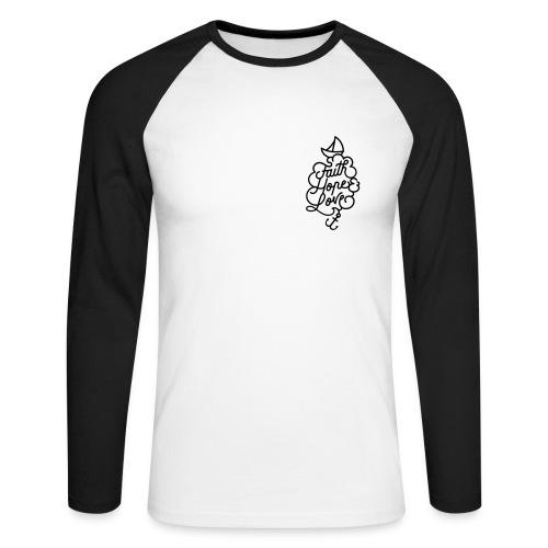 Männer Baseball-Shirt - Männer Baseballshirt langarm