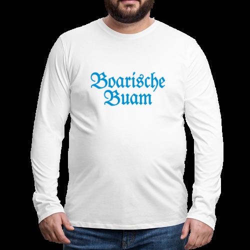 Boarische Buam Bayern Langarmshirt - Männer Premium Langarmshirt