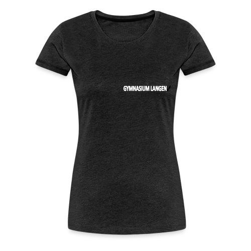 Tailliertes kurzärmilges Schul-T-Shirt - Frauen Premium T-Shirt