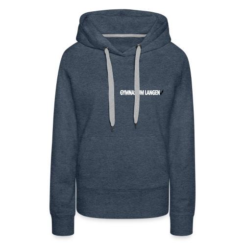Taillierter Schul-Pullover - Frauen Premium Hoodie