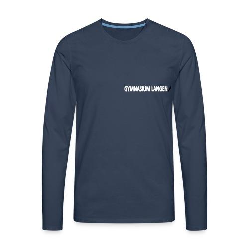Unisex längärmliges Schul-T-Shirt - Männer Premium Langarmshirt