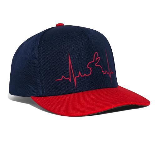 Herzschlag Hase - Snapback Cap