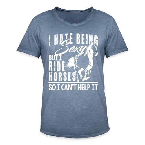 Sexy - ich reite Pferde - Männer Vintage T-Shirt