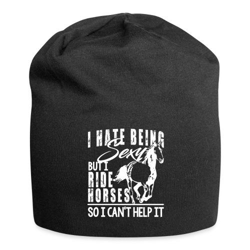 Sexy - ich reite Pferde - Jersey-Beanie