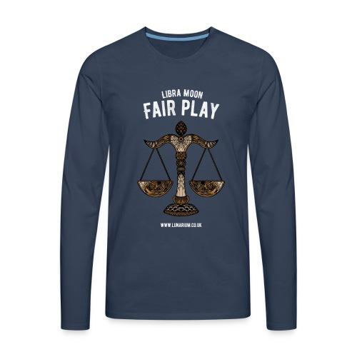 Libra Moon Men's Premium Longsleeve Shirt - Men's Premium Longsleeve Shirt