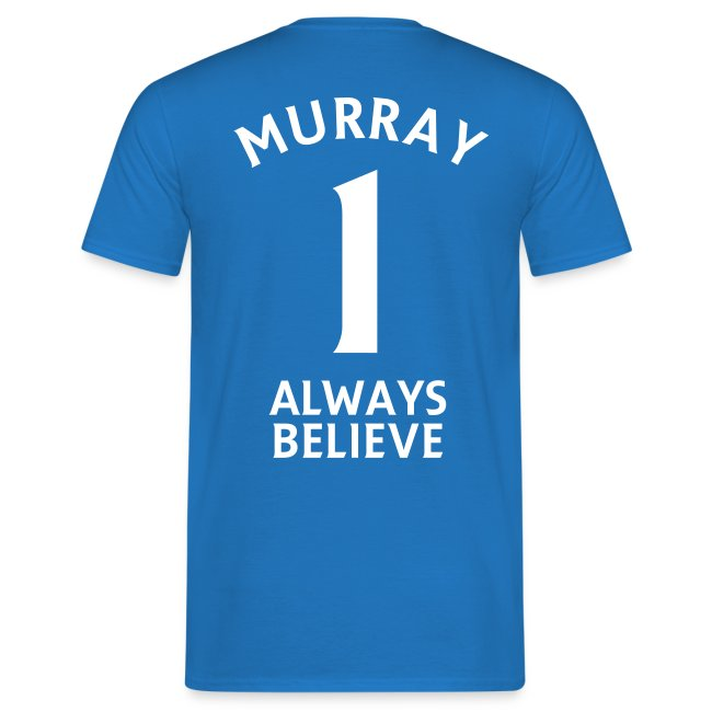 Number 1. Believe. Mens Blue T-shirt