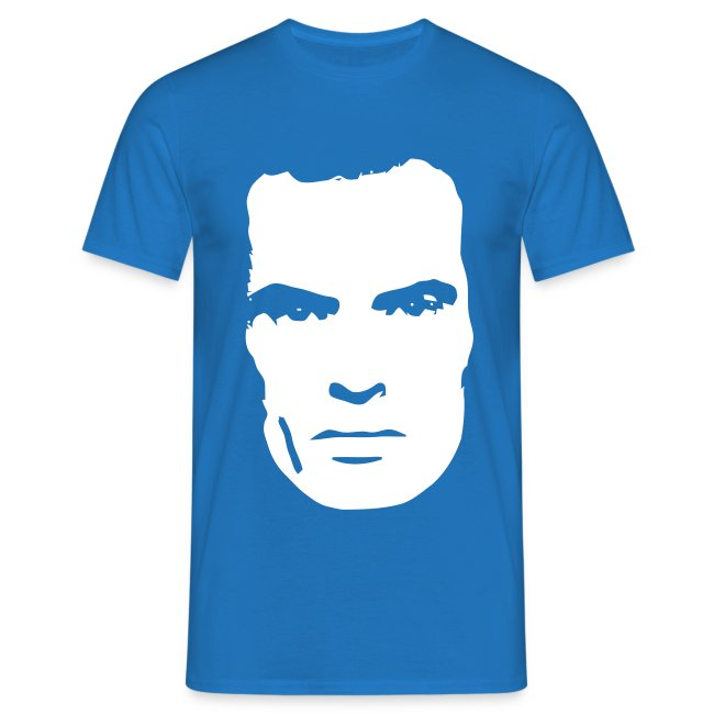 AM-Face. Blue Mens T-shirt