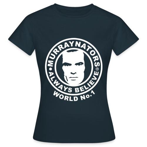 Number 1. Believe. Womens Navy T-shirt - Women's T-Shirt