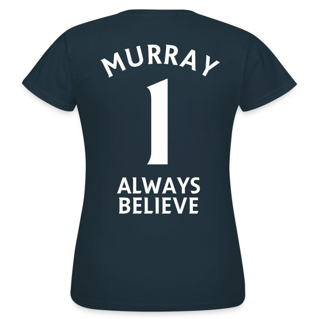 Number 1. Believe. Womens Navy T-shirt