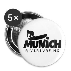 Munich Riversurfing Anstecker - Buttons groß 56 mm