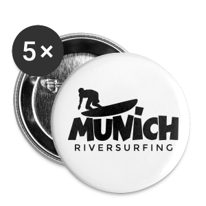 Munich Riversurfing Anstecker - Buttons mittel 32 mm