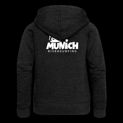 Munich Riversurfing Kapuzenjacke - Frauen Premium Kapuzenjacke