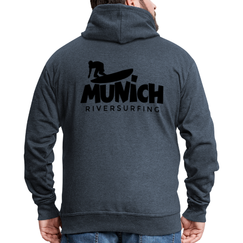 Munich Riversurfing Kapuzenjacke - Männer Premium Kapuzenjacke
