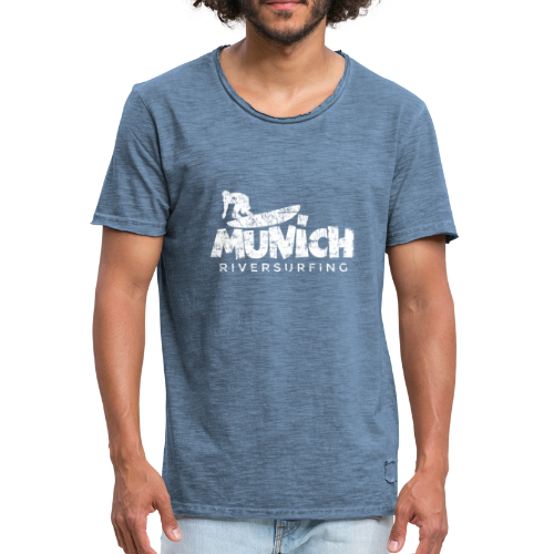 Munich Riversurfing (Vintage/Weiß) T-Shirt - Männer Vintage T-Shirt