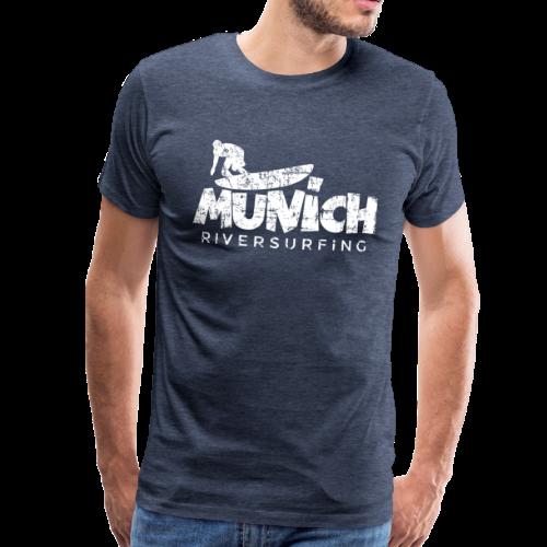 Munich Riversurfing (Vintage/Weiß) S-5XL T-Shirt - Männer Premium T-Shirt