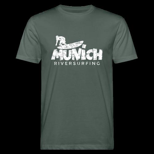 Munich Riversurfing (Vintage/Weiß) Bio T-Shirt - Männer Bio-T-Shirt