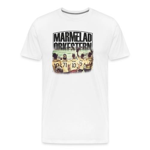 Vit t-shirt för killar - Premium-T-shirt herr