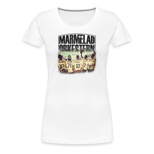 Vit t-shirt för tjejer - Premium-T-shirt dam