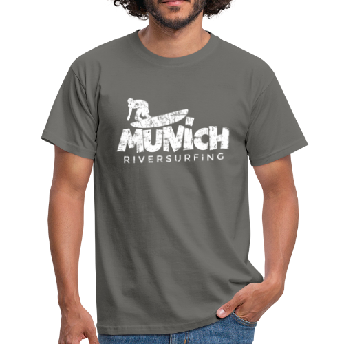 Munich Riversurfing (Vintage/Weiß) T-Shirt - Männer T-Shirt