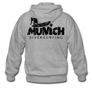Munich Riversurfing München Surfer Vintage Schwarz