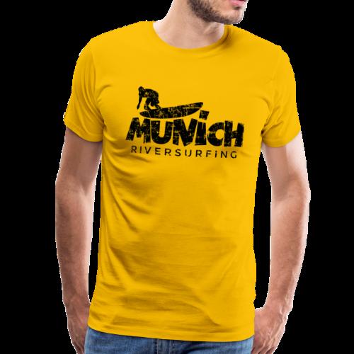 Munich Riversurfing (Vintage/Schwarz) S-5XL T-Shirt - Männer Premium T-Shirt