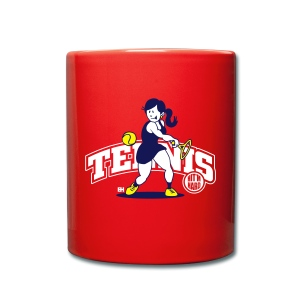 Tennis, Hit'm hard Mugs & Drinkware - Mok uni