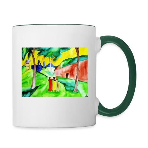 Neuer Morgen, Tasse zweifarbig aus Keramik - Tasse zweifarbig