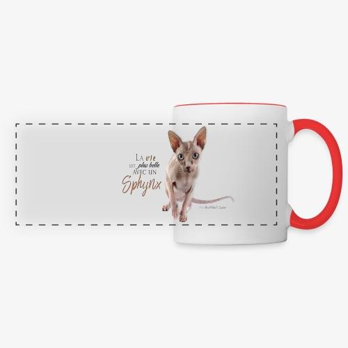 mug sphynx - Mug panoramique contrasté et blanc