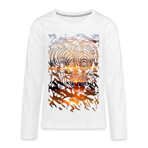 Zebras at Sunset - Teinien premium pitkähihainen t-paita