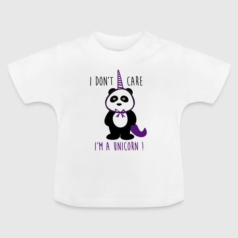 I don't care i'm a unicorn - Sprüche - Baby T-Shirt