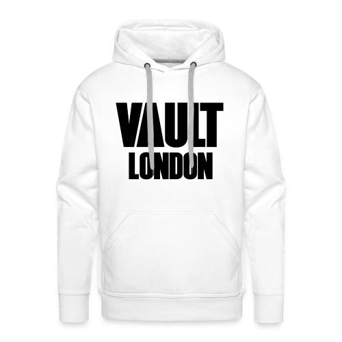 Premium Vault London Logo Black White Hoodie - Men's Premium Hoodie