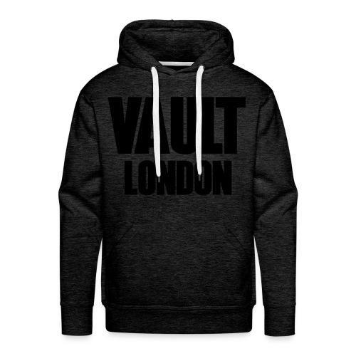 Premium Vault London Logo Black Dark Grey Hoodie - Men's Premium Hoodie