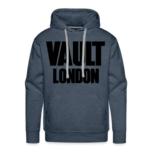 Premium Vault London Logo Black Blue Hoodie - Men's Premium Hoodie