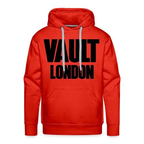 Premium Vault London Logo Black Red Hoodie - Men's Premium Hoodie